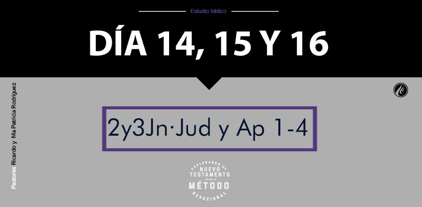 Día 14-16- Explorando el nuevo testamento III