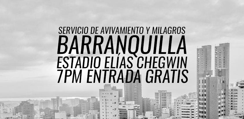 ¡INFORMACIÓN IMPORTANTE!- Nuevo lugar para el evento en Barranquilla