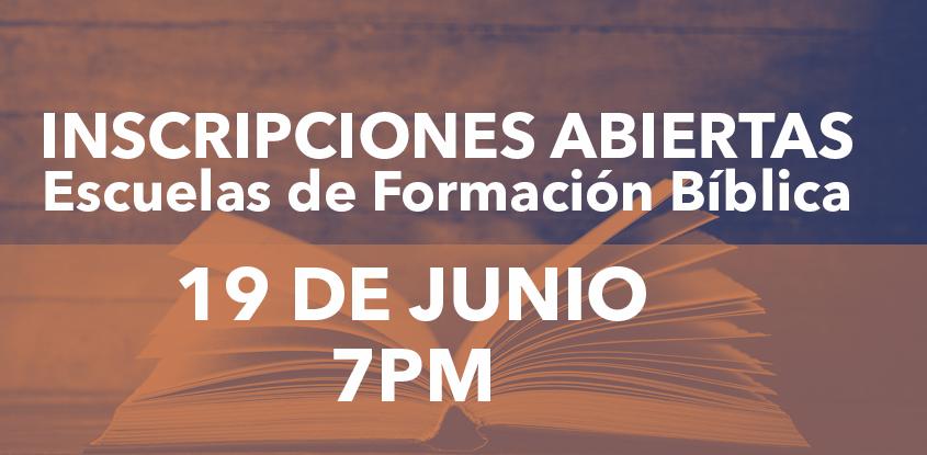 Inscripciones abiertas para las Escuelas de Formación Bíblica