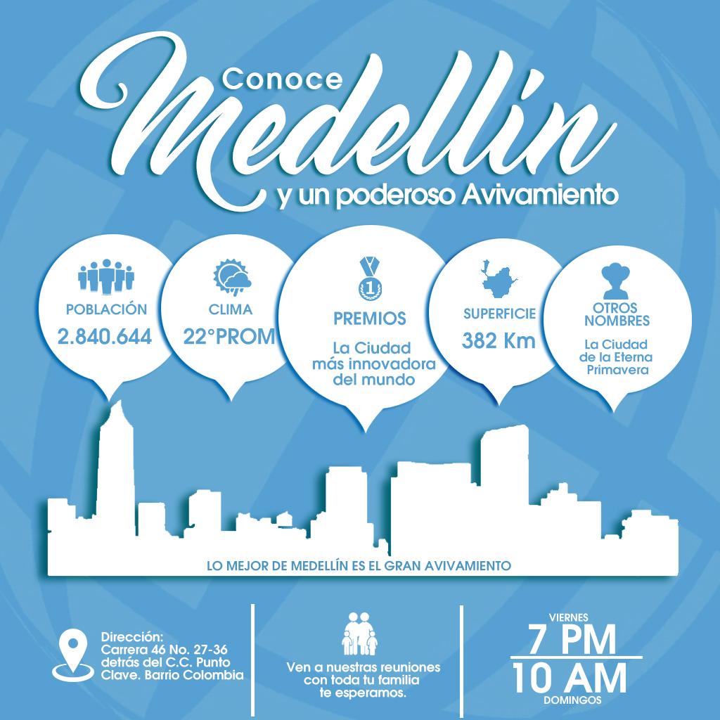 Conoce Medellín y un poderoso Avivamiento