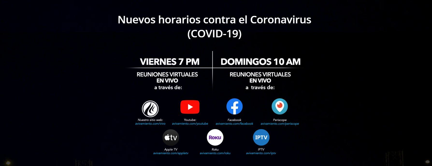 Nuevos horarios en contra del Covid-19