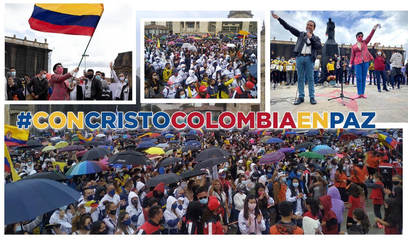 Gran Marcha con Cristo Colombia en Paz