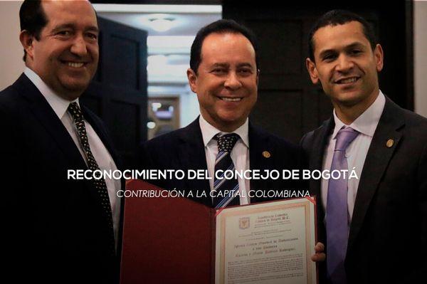 El Concejo de Bogotá otorga reconocimiento a los pastores Ricardo y Ma. Patricia Rodríguez