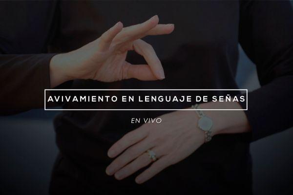 Avivamiento en el lenguaje de señas