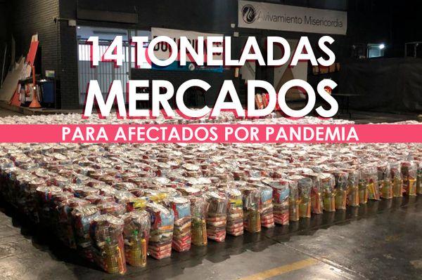 14 toneladas de comida para los más afectados en Bogotá durante la pandemia